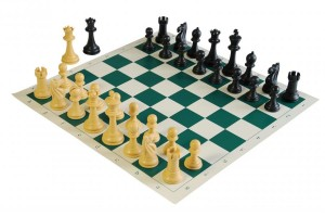 A Staunton Pattern chess set