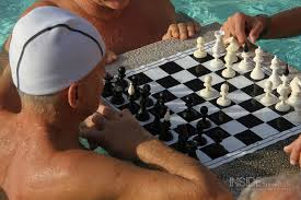 Chess in a swimming pool