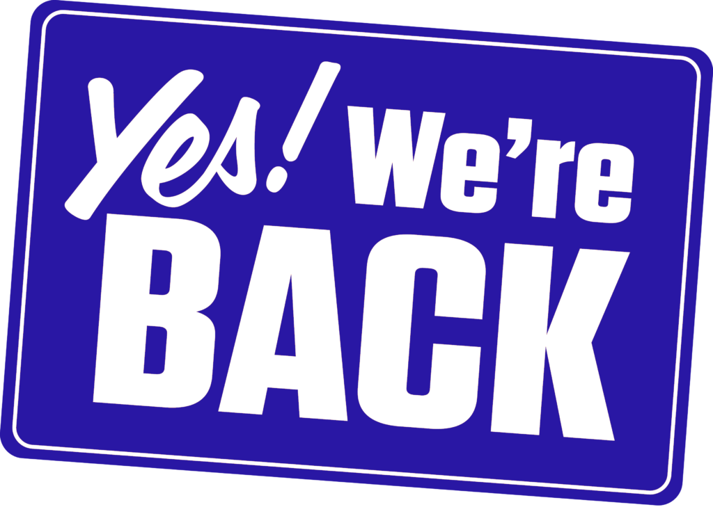 Yes! We're back!